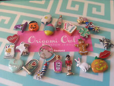 NEW Holiday ORIGAMI OWL Charm Lot:  20+ charm:  snowman snowglobe, white bunny..