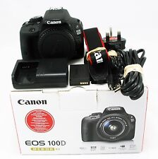 Canon EOS 100D 18.0MP Digital SLR Camera Body - Boxed, MINT, 317 shutter count