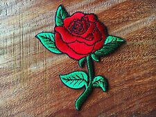 Beautiful Red Rose Jacket Jean Bag Embroidered Iron on Patch New