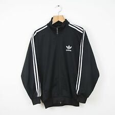 Vintage ADIDAS 90s Black Firebird Tracksuit Top Jacket | Retro Trefoil Original