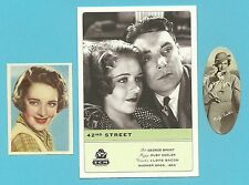 Ruby Keeler George Brent Fab Card LOT Canadian American actress 42nd Street A