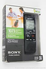 NEW IN BOX SONY DIGITAL FLASH VOICE RECORDER BLACK ICD-UX533