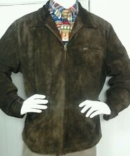 POLO by RALPH LAUREN Men's Chocolate  Brown Suede Leather Jacket Coat  Size XL