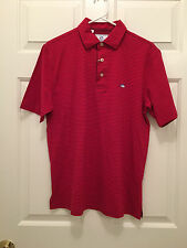 NWT Southern Tide Men's Classic Fit Skipjack Red Striped Polo Shirt Small