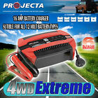 PROJECTA PC1600 12 VOLT 16AMP BATTERY CHARGER 6 STAGE AUTOMATIC GEL AGM SLA 12V