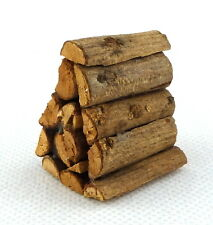Dolls House Miniature Fireplace Log Burner Yard Accessory Stack Pile of Logs