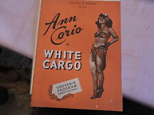 Rare 1941 Ann Corio Sexy White Cargo Burlesque 16 Page Program Striptease