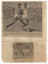 India 1975 scrap book page signed by Indian Football player Jarnail Singh  Ӝ