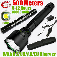 2000lumen 500meter CREE XML T6 LED TACTICAL Rechargeable police 18650 Flashlight