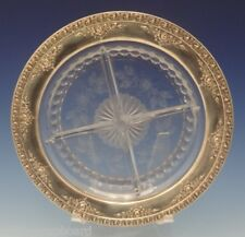 Normandie by Wallace Sterling Silver Relish Dish w/ Crystal 4 Section (#0595)