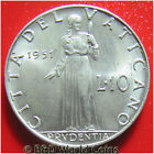 VATICAN CITY 1951 10 LIRE POPE PIUS XII 23mm ALUMINUM COLLECTABLE WORLD COIN