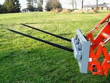 "Skid Steer DOUBLE Bale Spear Attachment 2 x 39"" Prong Hay Bale Handler CAT-M"