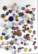 JOB LOT COLLECTION Vintage Broken pin badges 1960s Esso MG Dellow NSU Honda Ford