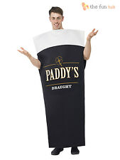 Mens St Patricks Day Guinness Irish Beer Fancy Dress Costume Stag Guiness Funny