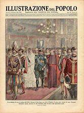 [MAB39] RIVISTA ILLUSTRAZIONE DEL POPOLO ANNO 1929 N. 50 RE D'ITALIA DAL PAPA