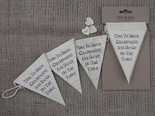 Wedding Vintage Bunting Garland Shabby Chic Venue Home Decoration East of India