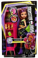 MONSTER High Ghoul-la-la Locker veicolo con CLAWDEEN WOLF bambola