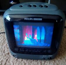 """PHILIPS MAGNAVOX AC/DC Compact Color TV 5""""  with adapter"""