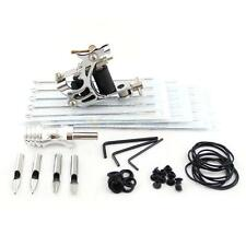Mini 1 Gun Carbon Steel Tattoo Machine Kit 20 Needles 4 Steel Tattoo Tips Rings