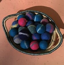 Colorful, handmade, natural wool felted dryer balls - 3