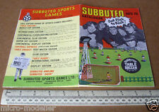 1972-73 Subuteo Sports Games Product Catalogue. Table Soccer, Cricket, Rugby