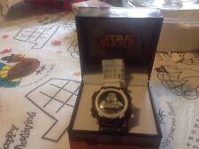 Disney Star Wars Storm Trooper accutime watch, rare, in box, digital, STM3460JC