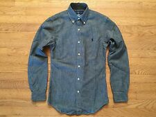 Polo Ralph Lauren Pony Chambray Slim Fit Button Shirt Size Small, NWT