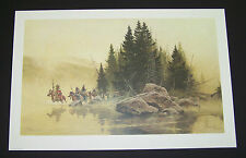 """Frank McCarthy Lmtd Ed Print """"Out of the Mist They Came"""" w/Original Folder"""