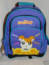 "NEW WITH TAGS HAMTARO LARGE SCHOOL PURPLE  12"" x 16"" BACKPACK"