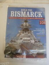 Costruire la Bismarck Hachette Fascicolo 108 NUOVO SIGILLATO