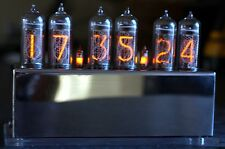 Nixie IN-14 Clock with 6 tubes in Stainless Steel housing