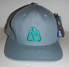 NWT Matix Icon Surf Skate Embroidered Logo Grey Snapback Hat Cap by Starter