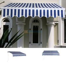 DIY  Manual 10'x8' Window Front Door Retractable Patio Sun Shade Canopy Awning