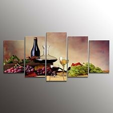 Red Grape Wine Paintings Framed Wall Art Home Office Living Room Kitchen Decor