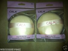 2 Pack Lot - Cala Large Powder Puff for Pressed or Loose Powder # 70921
