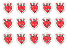 5 New Sets Harrows Dimplex Standard Dart Flights - Heart Union Jack - 15 Flights