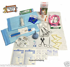 Warwick Select Whelping Kit Delivery Pack Sterile Apron gloves & 100g milk inc