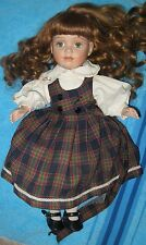 Brinn's 1992 Green Eyed Red Headed Porcelain Doll