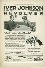 1920 Iver Johnson Revolver Ad Pistol Safety Features Gun Won't Go Off Automatic