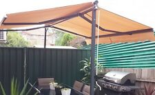 Free Standing Retractable Folding Arms Awning / Sunshade Pergola Black or Beige