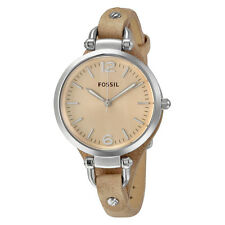 Fossil Georgia Light Brown Leather Ladies Watch ES2830