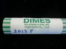 2013 P BU ROOSEVELT DIME BANK WRAPPED ROLLS