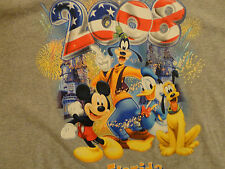 GRAY 2008 DISNEY FLORIDA CARTOON T SHIRT EXCELLENT ADULT XL FREE US SHIPPING