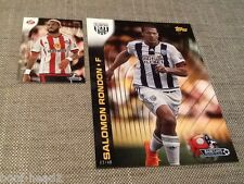 SALOMON RONDON West Brom/49 TOPPS Premier Gold 2015 5x7 Scheda Wall Art #142 Montante Settimanale del beneficio