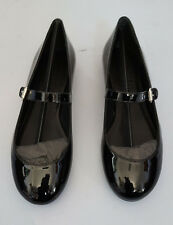 POLO RALPH LAUREN MAKENNA BLK PATENT LEATHER FLAT EUR 36B US 6B MADE IN SPAIN
