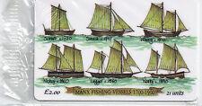 IOM Isle of Man Manx Telecom Phonecard Manx Fishing Vessels 1700-1900 21u mint