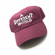 A Different World TV Show Maroon Dad Cap Hat Exclusive Hillman Retro Rare Vtg