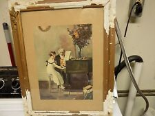 antique water color signed