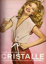 1979 Chanel Cristalle Perfume Kelly Emberg Print Advertisement Ad Vintage 70s