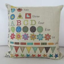 Educational Children's Bedroom Playroom Numbers, Counting Cushion Cover 45cm